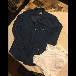 Chambray blouse. EUC